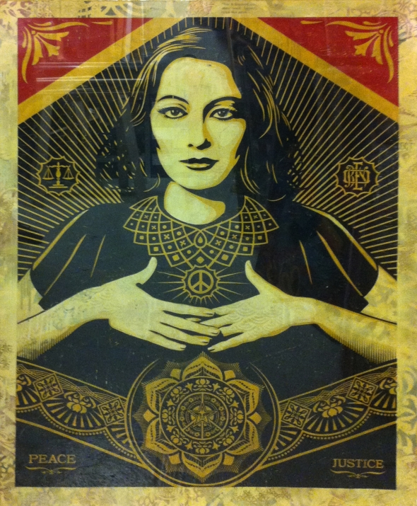 Peace and Justice,  Shepard Fairey, 2012, 10 exemplaires 18 000€