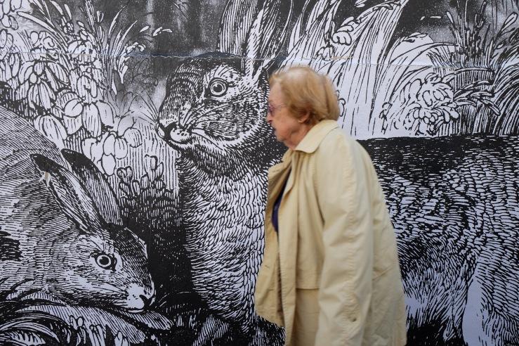 Mur de la mairie du 14ème arrondissement de Paris, Mai 2017 ©SophieLeRenard